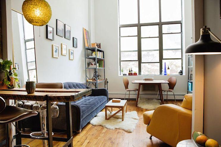 Ecléctico y moderno: departamento pequeños de 39 metros cuadrados con entrepiso 1