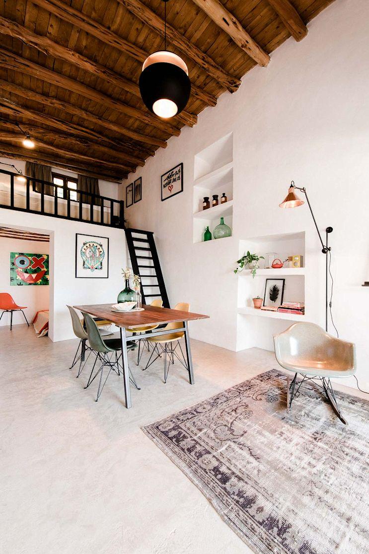 Casa pequeña de 45 metros² en estilo rústico