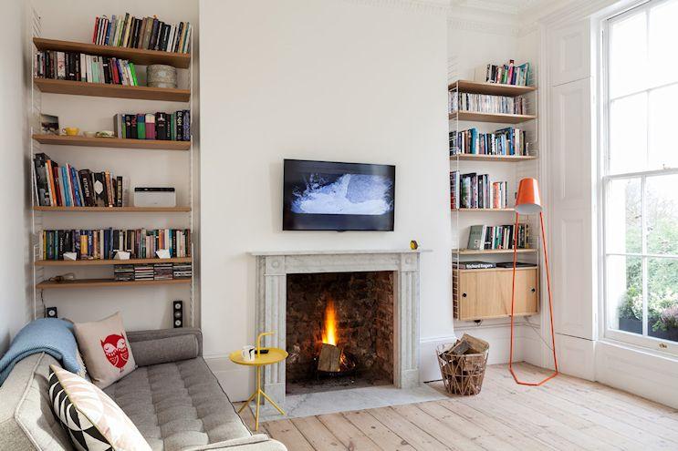 Decoración de departamentos de 2 ambientes: living de estilo contemporáneo 1