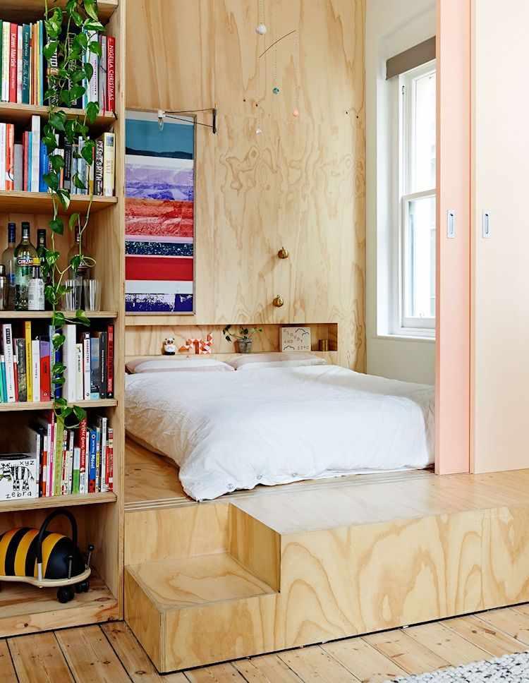 Departamento con división de ambientes en madera terciada 2