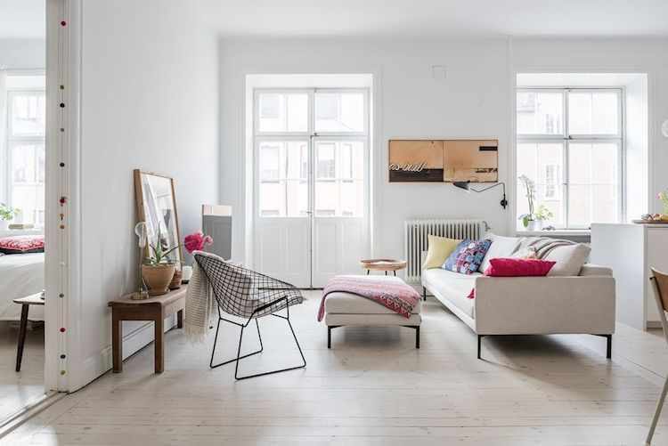 Departamento de 2 ambientes con decoración minimalista, nórdica y vintage 1