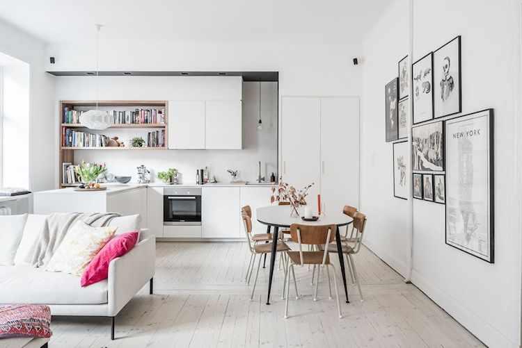 La cocina estaba separada por una pared que se derribó para dar lugar al espacio único integrado