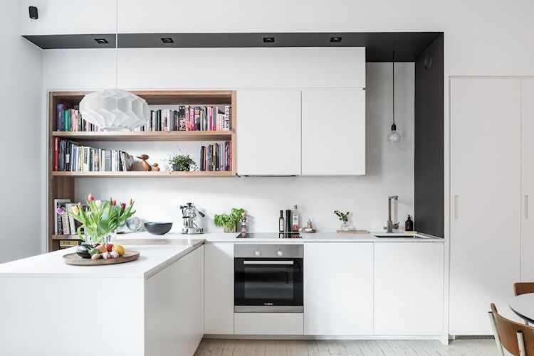 Cocina moderna con diseño en L para sumar funcionalidad y comodidad