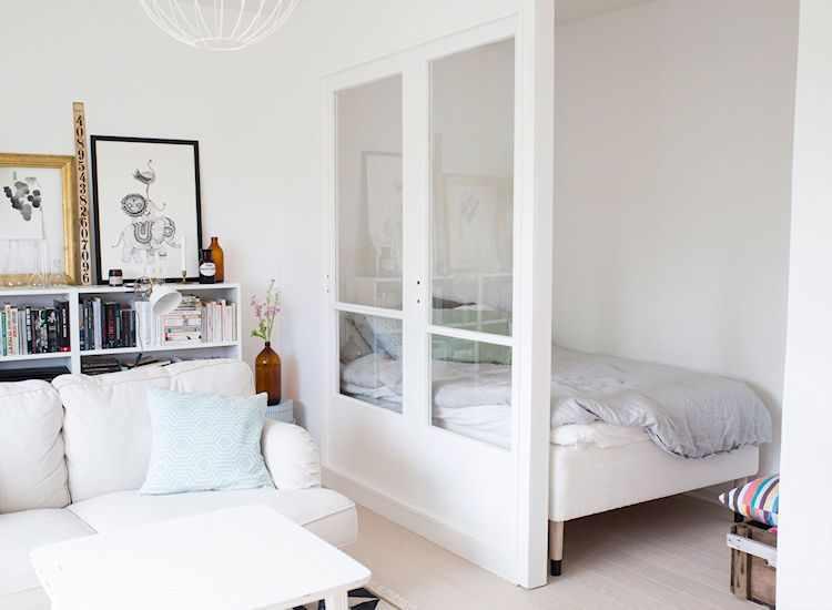 Dividir monoambientes con pared de durlock y vidrio