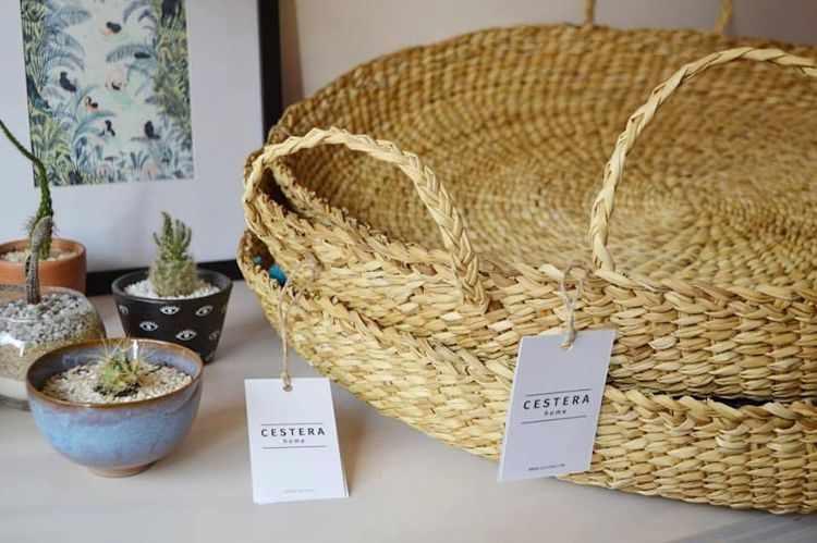 Cestera Home: bandejas tejidas
