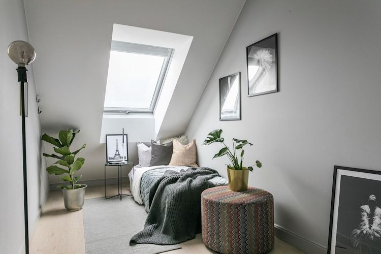 Dormitorio en el altillo del departamento
