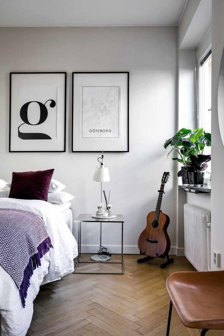 Cuadros y accesorios para sectorizar el dormitorio