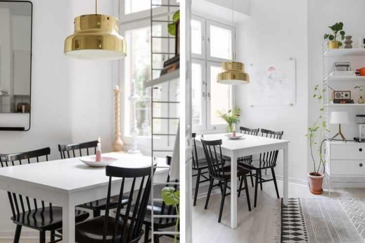 Deco nórdica en un monoambiente de 36 metros²: muebles, pisos y paredes en color claro para potenciar la luz 12