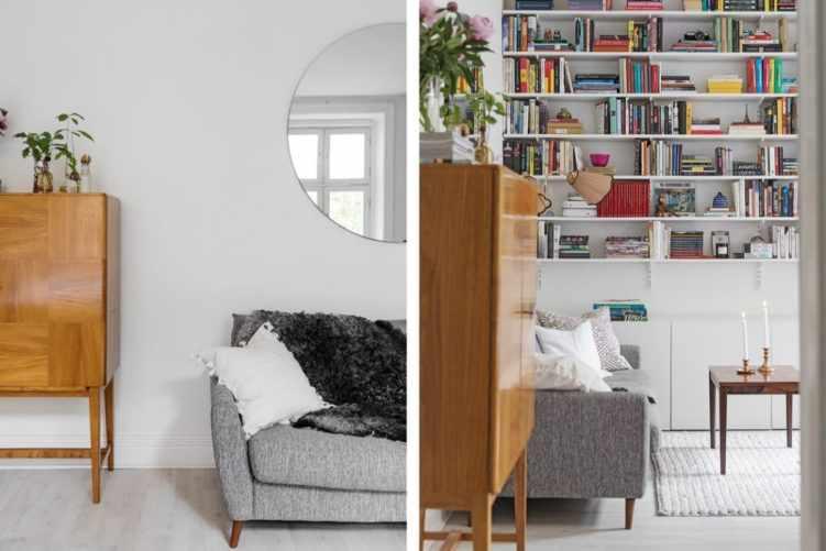 Deco nórdica en un monoambiente de 36 metros²: muebles neutros y muebles vintage 3
