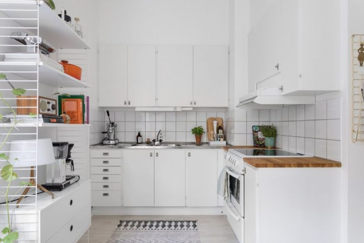 Deco nórdica en un monoambiente de 36 metros²: cocina nórdica 9