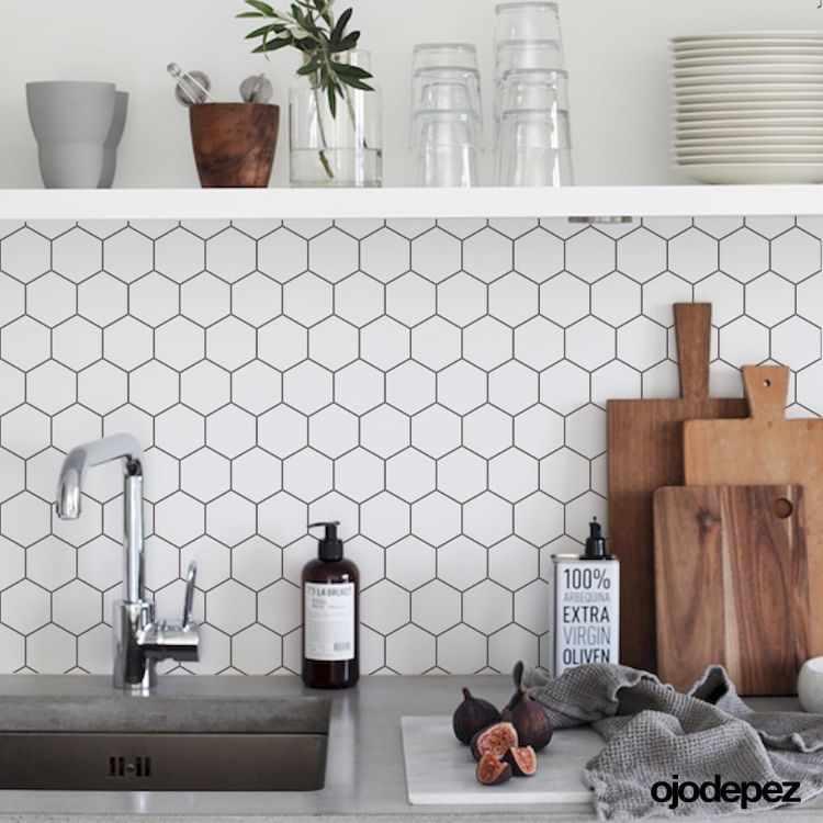 Ojodepez Vinilos decorativos - Azulejos autoadhesivos para cocinas 4
