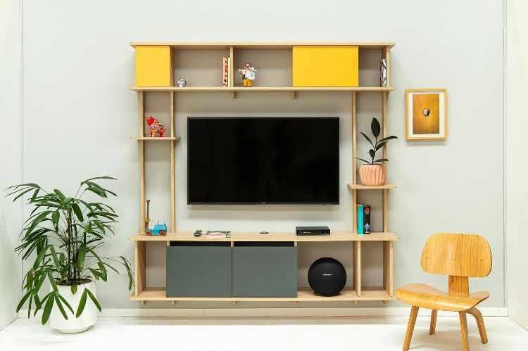 Madera Muebles - Muebles encastrables de fácil armado y guardado 2