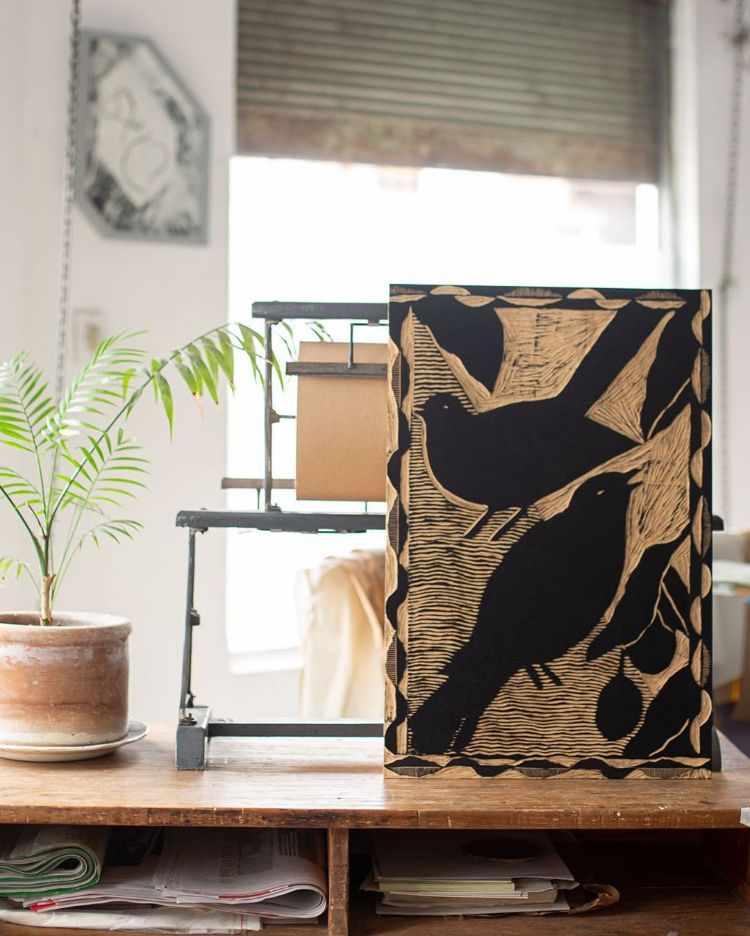 Fábrica de Estampas: venta online de xilografías y monocopias sobre papel y tela 1