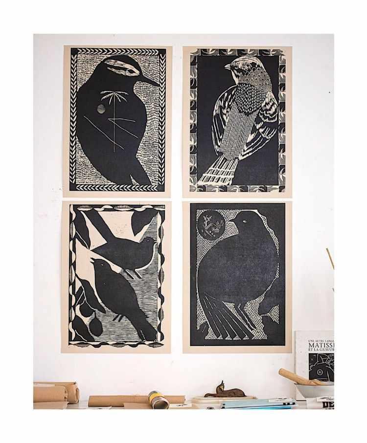 Fábrica de Estampas: venta online de xilografías y monocopias sobre papel y tela 2