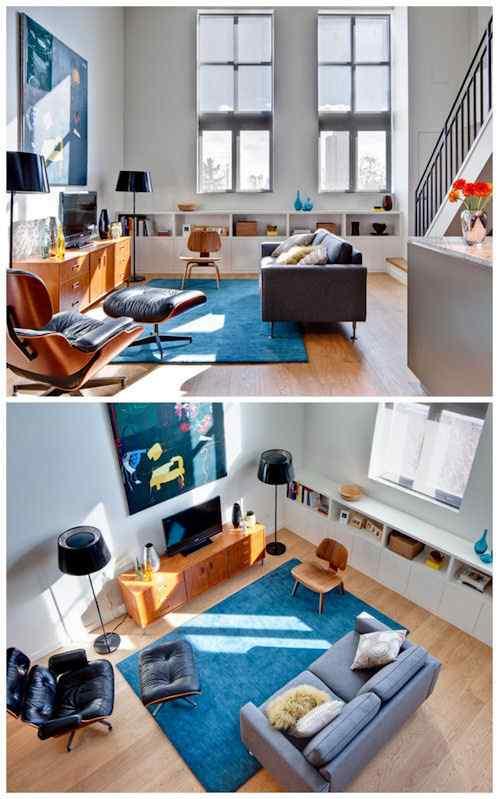 Loft - Living en doble altura con diseño moderno