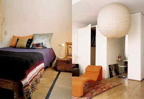 Espacio peque o con mucha luz y estilo decoraci n de for Interiores de departamentos pequenos