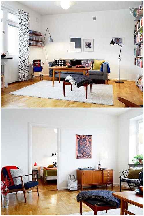 Departamento con decoración vintage y contemporánea