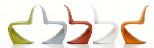 Muebles estilo retro silla Panton de Verner Panton