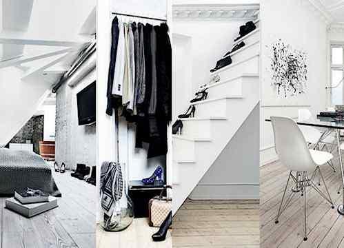 Interiores de un departamento minimalista chic en blanco for Decoracion de departamentos minimalistas