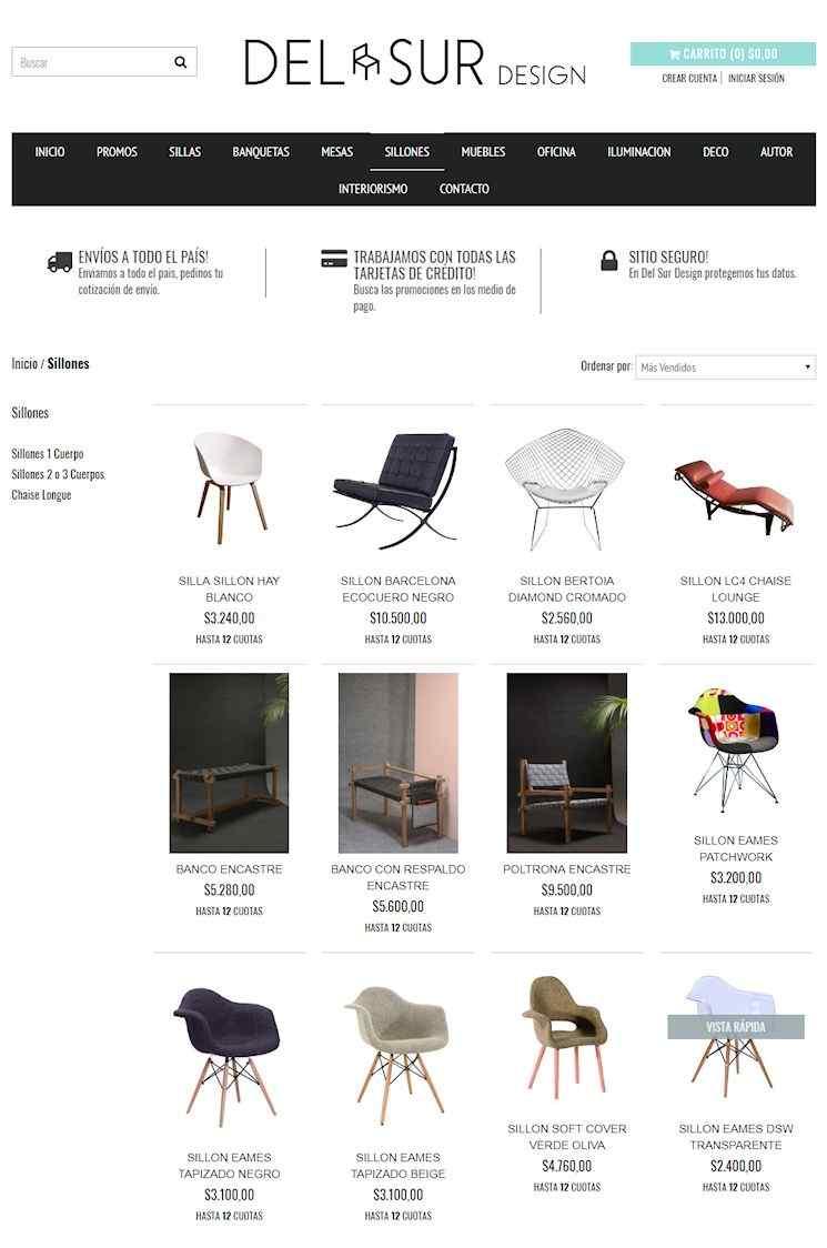 Tienda Online de Del Sur Design