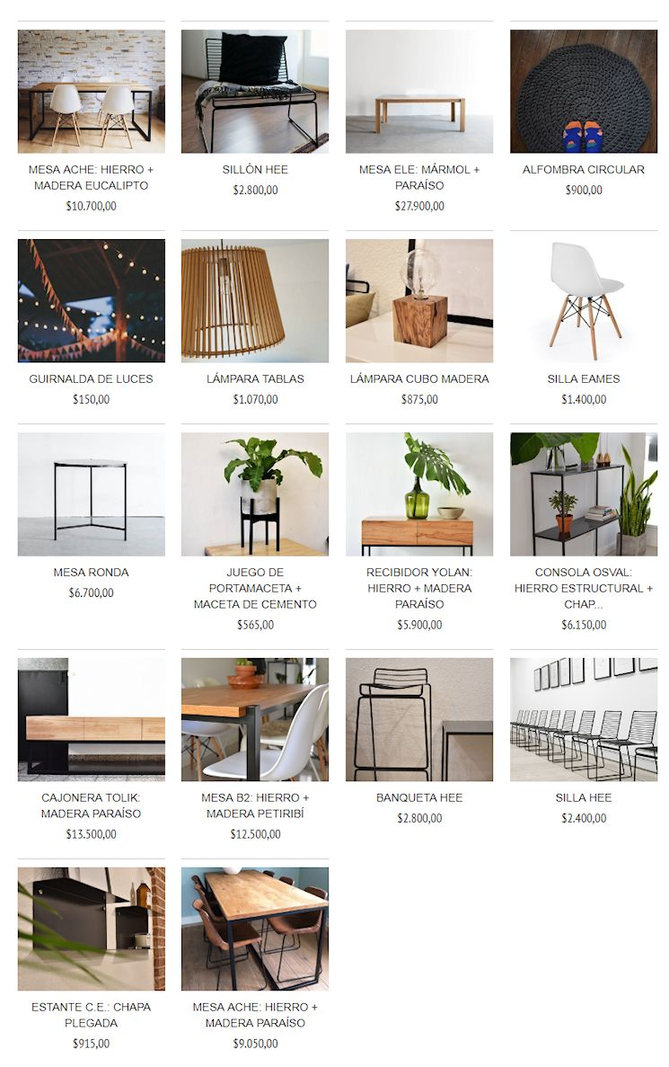 Tienda online de Ferro Diseño Interior