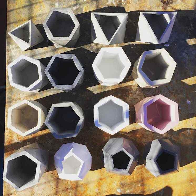 Hexaco Design - Macetas de cemento 5