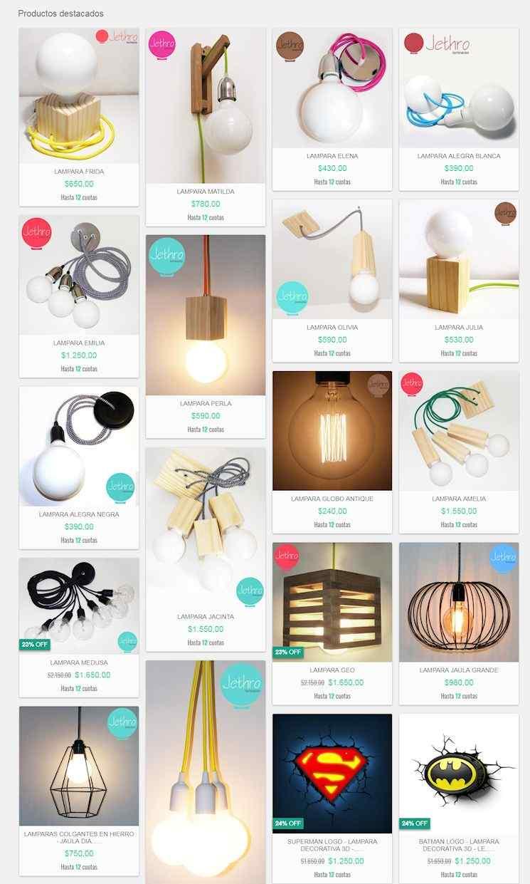 Tienda online de Jethro Iluminación