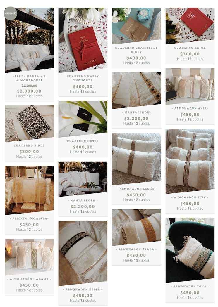 Tienda online de Kalanit