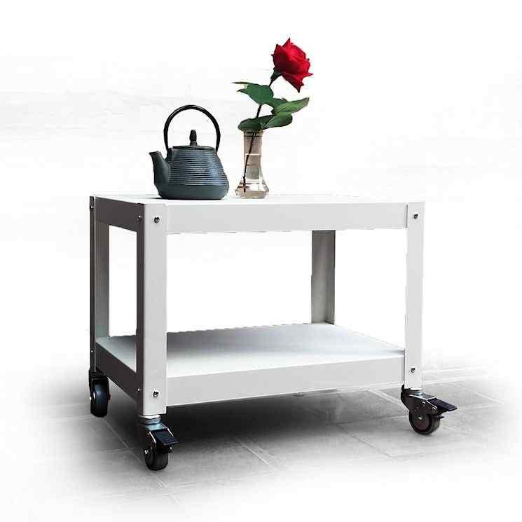 Muebles bajos y mesas auxiliares con ruedas fáciles de mover