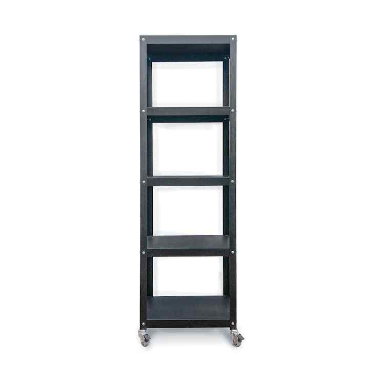 Bibliotecas altas metálicas con ruedas