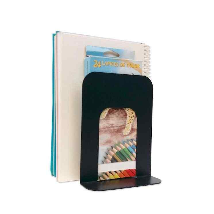 Sujeta libros metálicos