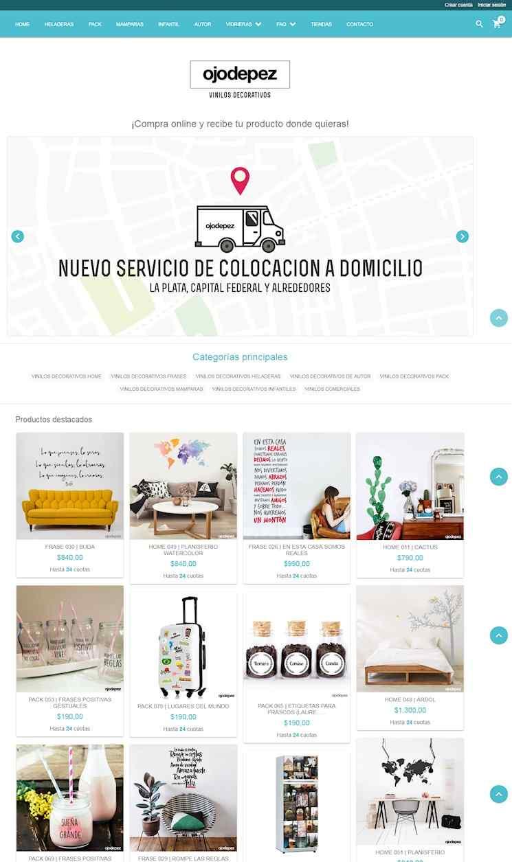 Tienda online de ojodepez