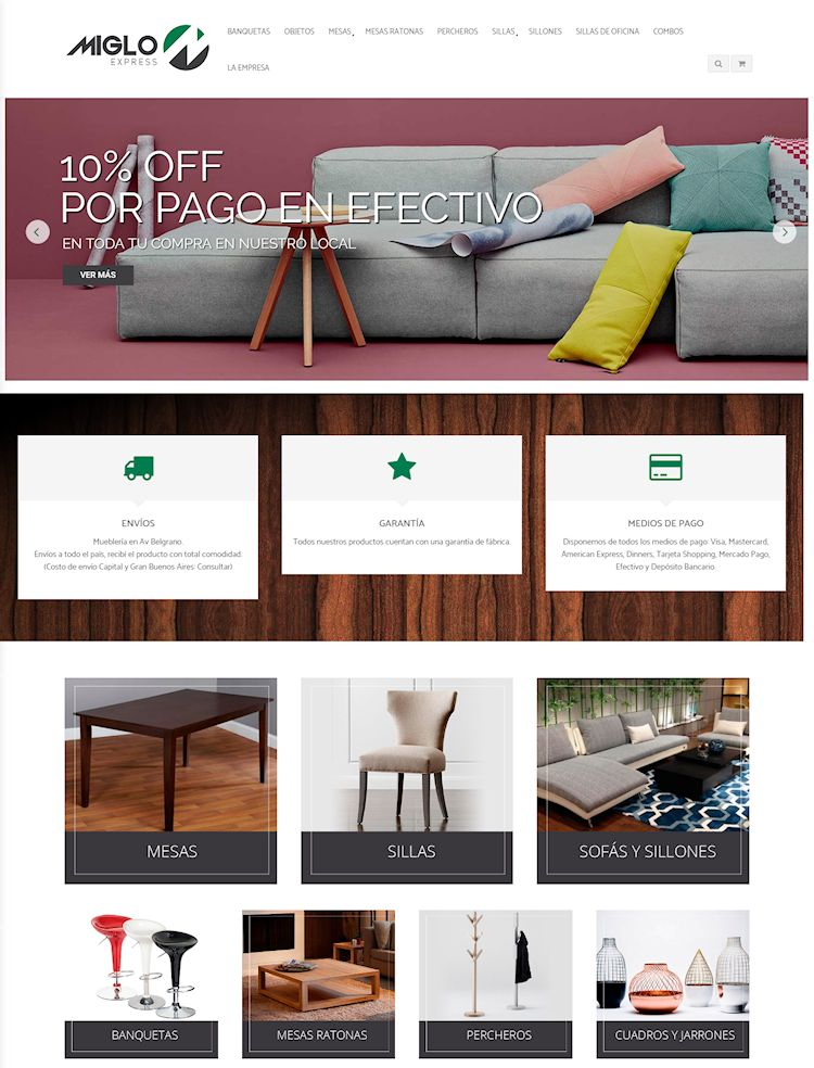 Tienda online de Miglo Express