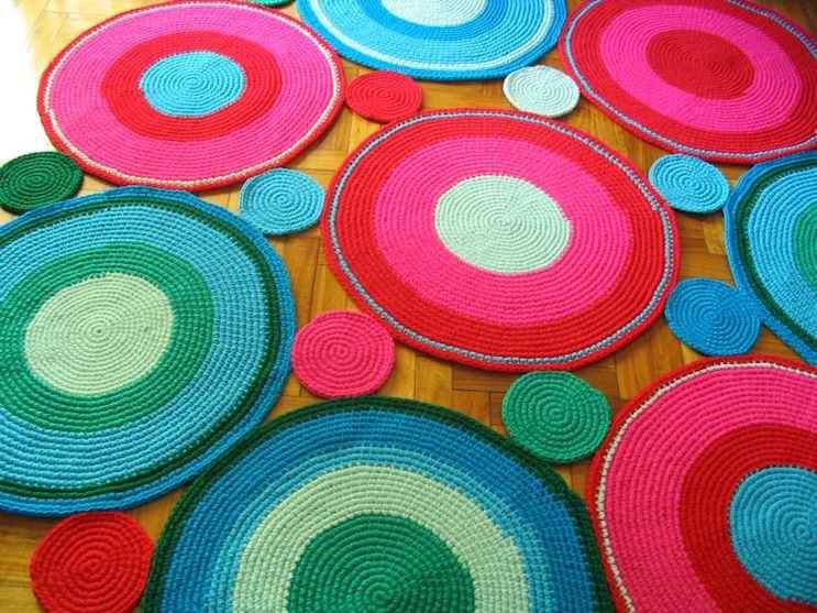 Puerta al Sur - Alfombras tejidas a crochet 5
