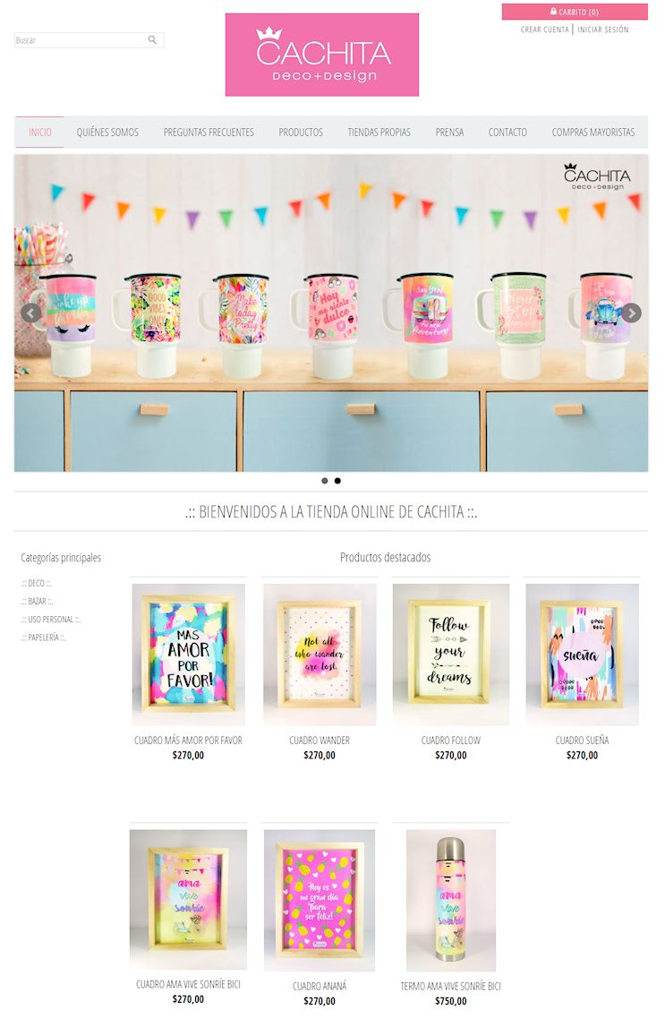 Tienda Online de Cachita Deco para compras minoristas