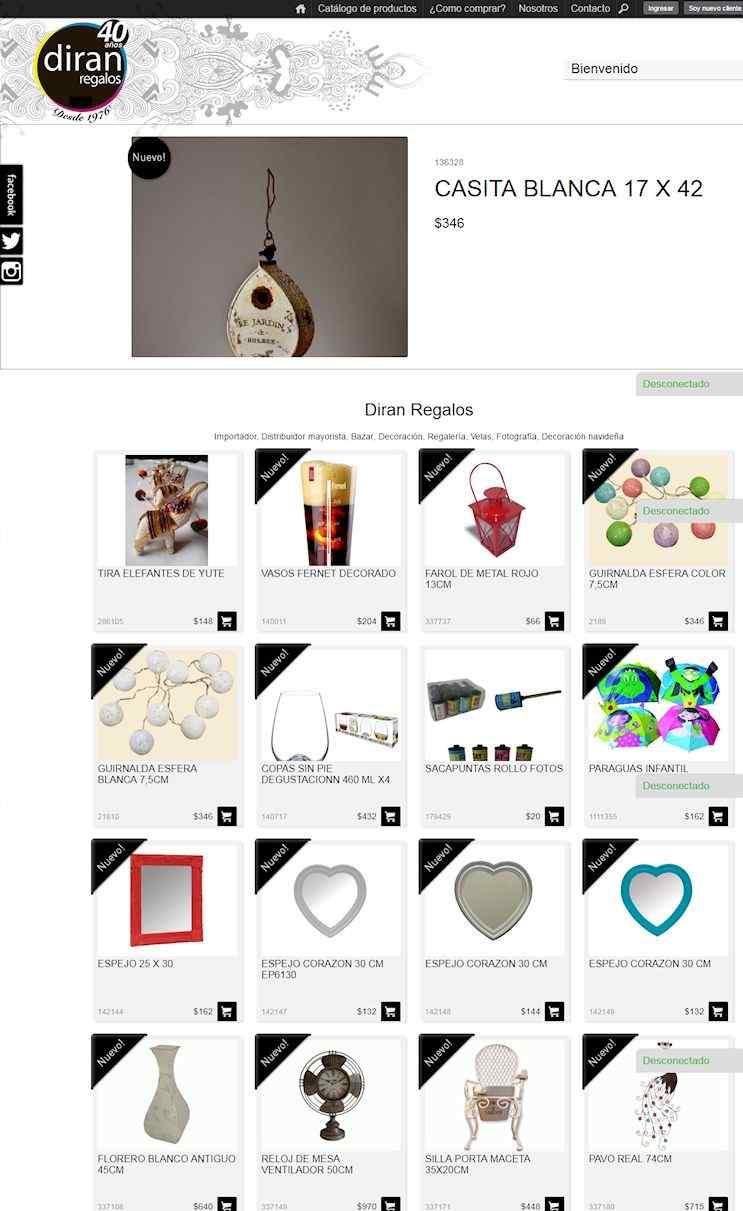 Tienda Online de Diran Regalos para compras por mayor y por menor