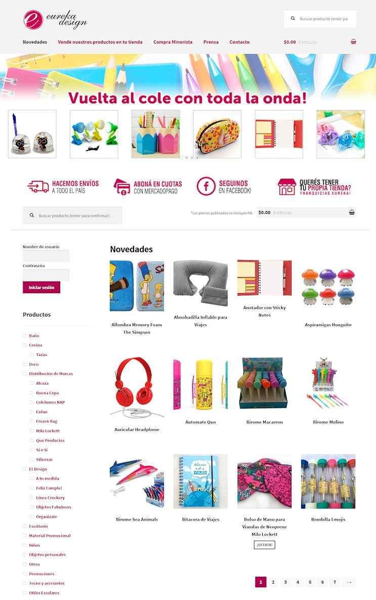 Eureka Design, Tienda de objetos deco y accesorios al por mayor y menor