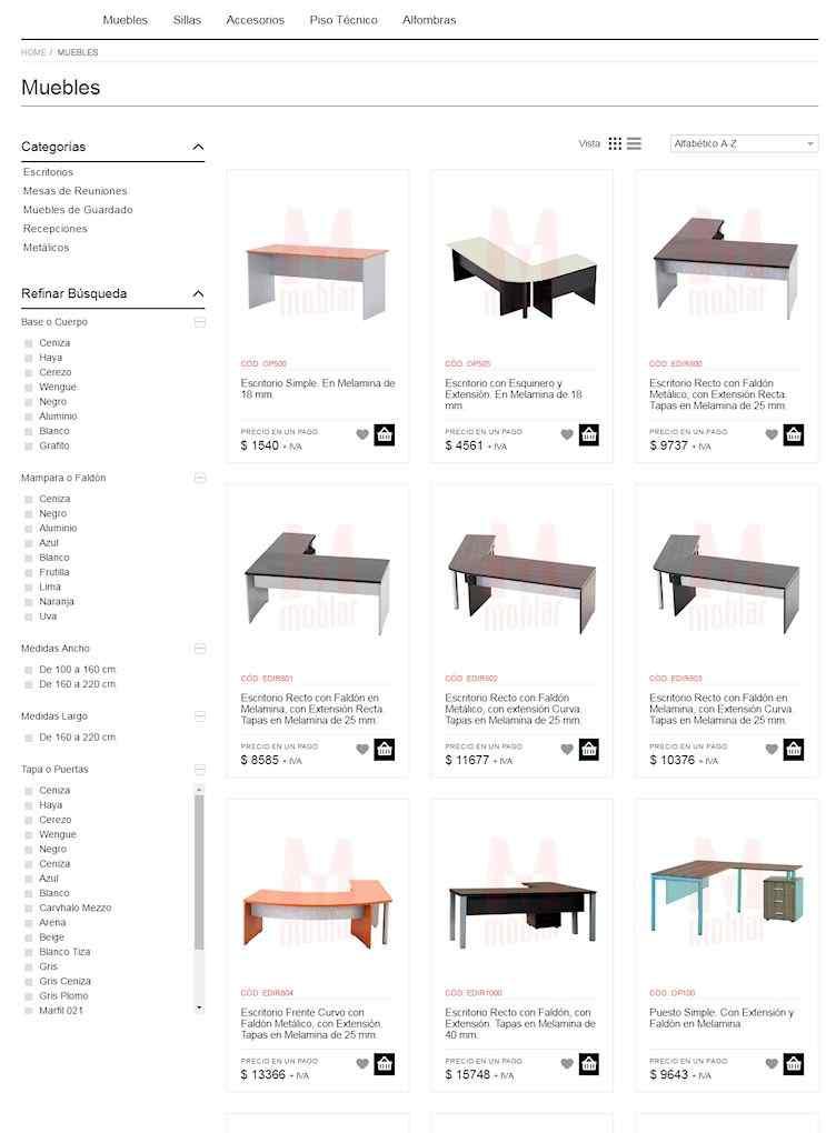 Tienda Online de Moblar, muebles de oficina