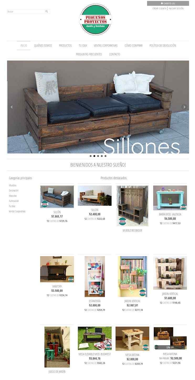 Tienda Online de Pequeños Proyectos donde podrás comprar muebles realizados con maderas de pallets recicladas