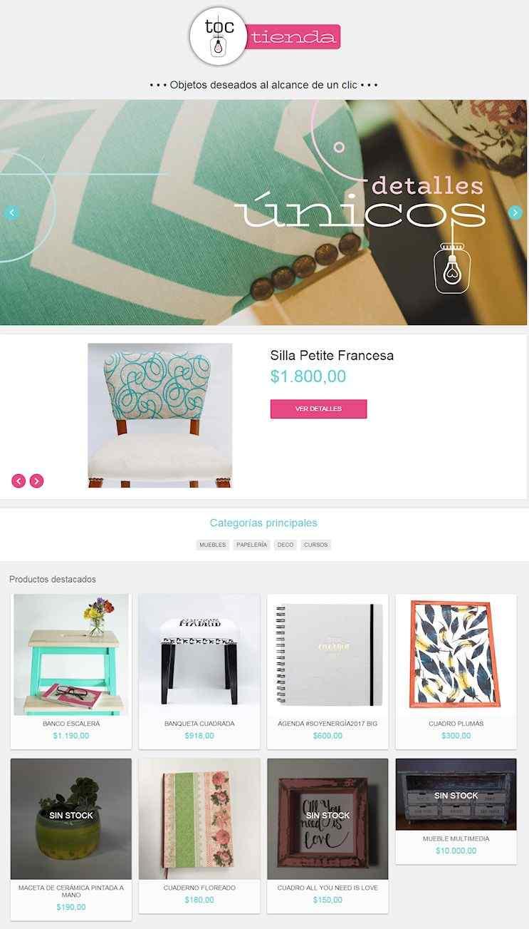 Tienda Online de TOC Taller