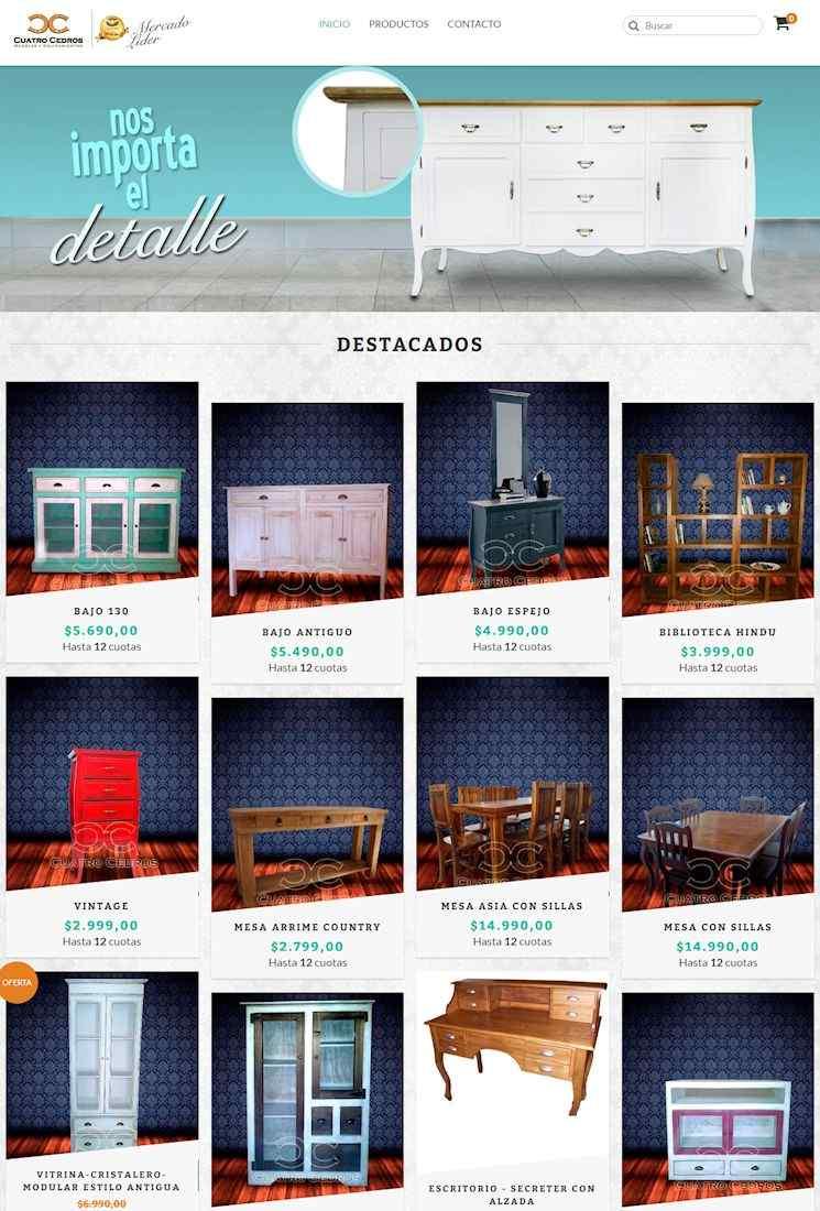 Tienda Online de Cuatro Cedros Muebles
