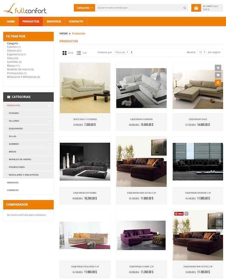 Tienda online de Full Confort