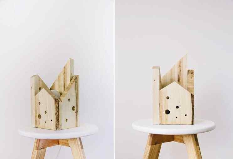 Objetos decorativos fabricados con maderas recuperadas