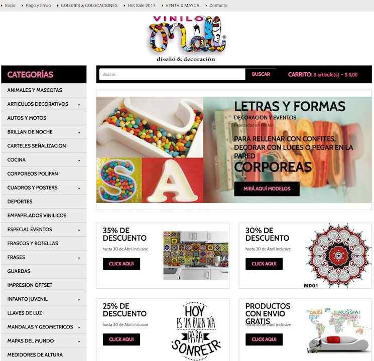 Tienda Online de Vinilo Mall